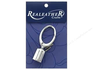craft & hobbies: REALEATHER by Silver Creek Findings Tassel Clip 1 pc Chrome