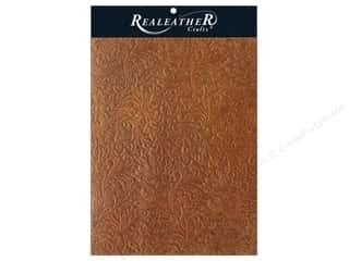 craft & hobbies: REALEATHER by Silver Creek Leather Trim 8.5 in. x 11 in. Acanthus Rustic