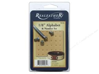 craft & hobbies: REALEATHER by Silver Creek Stamp Set 1/8 in. Alphabet & #