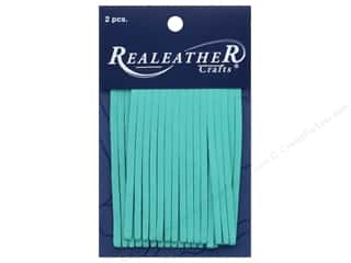 REALEATHER by Silver Creek Leather Deerskin Fringe 2 in. x 3 in. 2 pc Turquoise
