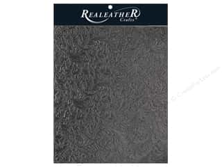 craft & hobbies: REALEATHER by Silver Creek Leather Trim 8.5  in. x 11 in.  Acanthus Black
