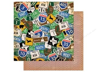"""Carta Bella Collection Are We There Yet Paper 12""""x 12"""" Road Signs"""
