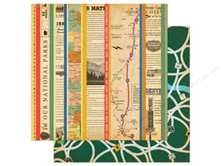 "Carta Bella Collection Are We There Yet Paper 12""x 12"" Get On The Road (25 pieces)"