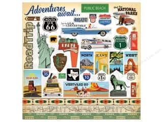 Carta Bella Collection Are We There Yet Sticker 12 in. x 12 in. Elements