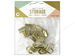 Crate Paper Craft & Offce Storage Wire System Hooks 16pc