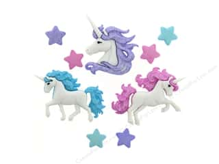 novelties: Jesse James Embellishments Magical Unicorns