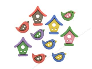 novelties: Jesse James Embellishments Bird Neighborhood