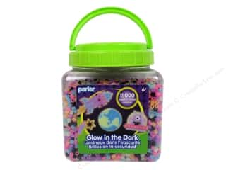 beading & jewelry making supplies: Perler Bead Bucket 11000 pc. Glow In the Dark