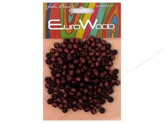 John Bead Wood Bead Round 6 mm Mahogany