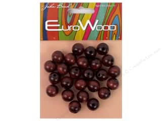 John Bead Wood Bead Round 12 mm Mahogany