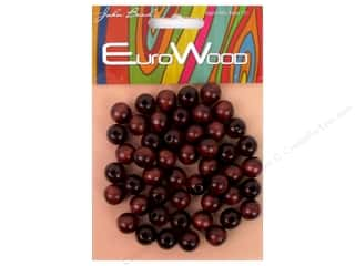 John Bead Wood Bead Round 10 mm Mahogany