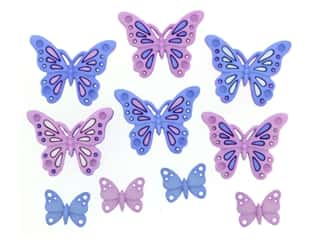 novelties: Jesse James Embellishments Sweet Butterflies