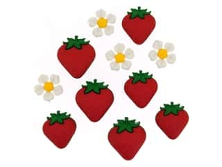 novelties: Jesse James Embellishments Fresh Strawberries