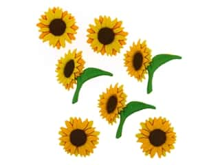 novelties: Jesse James Embellishments Sunflowers