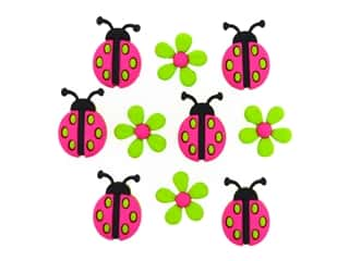 Jesse James Embellishments Ladybug Crossing