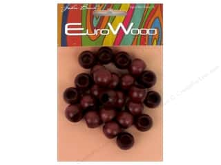 craft & hobbies: John Bead Wood Bead Round Large Hole 14x11mm Mahogany