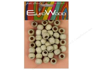 beading & jewelry making supplies: John Bead Wood Bead Round Large Hole 12x9.8mm Natural