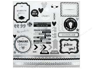 scrapbooking & paper crafts: Doodlebug Collection Hats Off Sticker This & That (12 pieces)