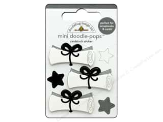 stickers: Doodlebug Collection Hats Off Doodle Pops Mini Diploma Day