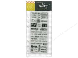 stamp cleared: Hero Arts Poly Clear Stamp Kelly Planner College Life