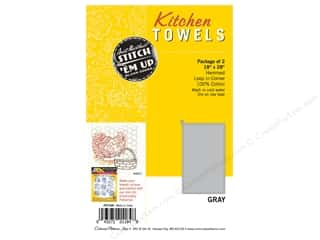 yarn & needlework: Aunt Martha's Towel Kitchen Gray 2pc