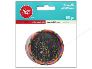 Stitch Markers: Boye Yarn Stitch Marker Removable 100 pc