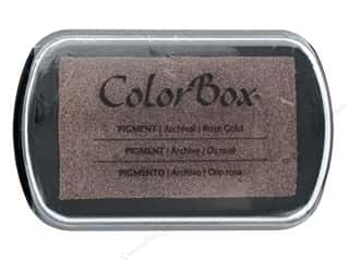 ink pads: ColorBox Pigment Ink Pad Full Size Metallic Rose Gold