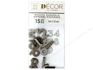 Darice Clock Numbers Wood Distressed Grey