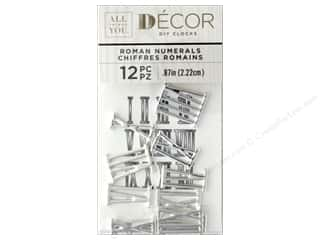 Darice All Things You DIY Clock Numbers Silver Metal Roman Numerals