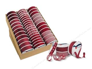 Clearance: Morex Ribbon Assortment Tray Sacramento Bordeaux (43 pieces)