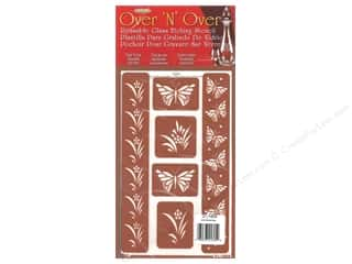 craft & hobbies: Armour Over 'N' Over Stencil Butterfly Border