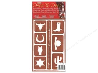 craft & hobbies: Armour Over 'N' Over Stencil Western