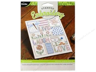 stamps: Bucilla Stamped Embroidery Kit Live, Love, Laugh