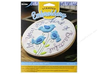 yarn & needlework: Bucilla Stamped Embroidery Kit Be Your Own Kind