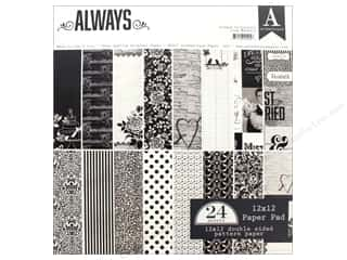 """scrapbooking & paper crafts: Authentique Collection Always Paper Pad 12""""x 12"""""""