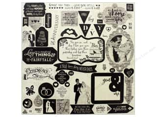 "scrapbooking & paper crafts: Authentique Collection Always Sticker 12""x 12"" Details (12 pieces)"