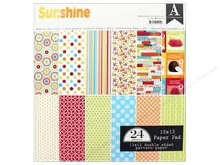 "Authentique Collection Sunshine Paper Pad 12""x 12"""