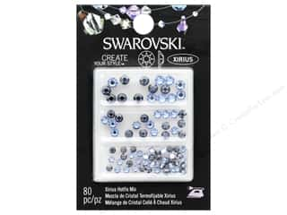 beading & jewelry making supplies: Cousin Swarovski Hotfix Mix Light Sapphire/Sapphire Satin 80pc