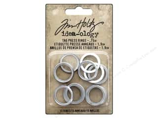 Tim Holtz Metallic Mixative: Tim Holtz Idea-ology Tag Press Rings .75""