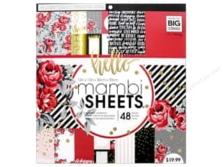 scrapbooking & paper crafts: Me & My Big Ideas Sheets 12 x 12 in. Cardstock Pad Life is Rosy