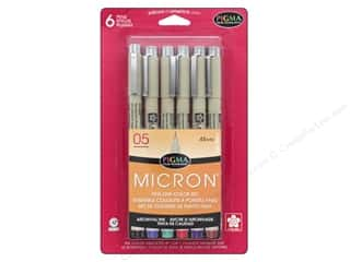 Sakura Pigma Micron 05 Pen Set .45 mm Assorted Color 6 pc.