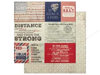 "Authentique Collection Heroic Paper 12""x 12"" Eight (25 pieces)"
