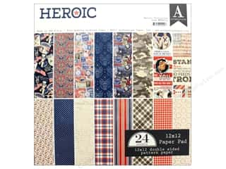 "Authentique Collection Heroic Paper Pad 12""x 12"""