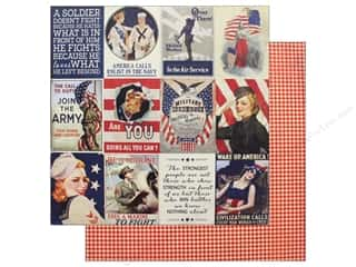 "Authentique Collection Heroic Paper 12""x 12"" Seven (25 pieces)"