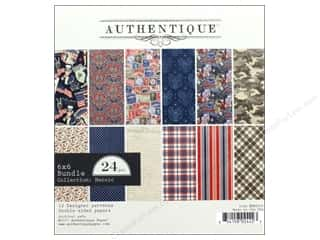 "stamps: Authentique Collection Heroic Bundle Pad 6""x 6"""