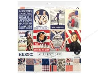 "scrapbooking & paper crafts: Authentique Collection Heroic Collection Kit 12""x 12"""