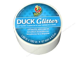 "Duck Brand Glitter Craft Tape 1.88""x 5yd White"