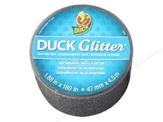 "glues, adhesives & tapes: Duck Brand Glitter Craft Tape 1.88""x 5yd Black"