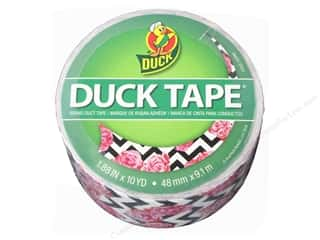 "Duck Brand Duct Tape 1.88""x 10yd Chevron Flower"
