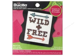 yarn & needlework: Bucilla Counted Cross Stitch Kit 3 in. Mini Wild & Free